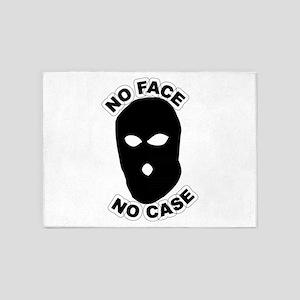 No face no case 5'x7'Area Rug