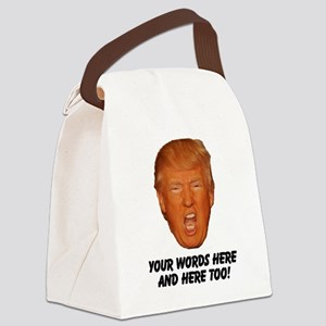 CAPTION TRUMP! Customizable Presi Canvas Lunch Bag