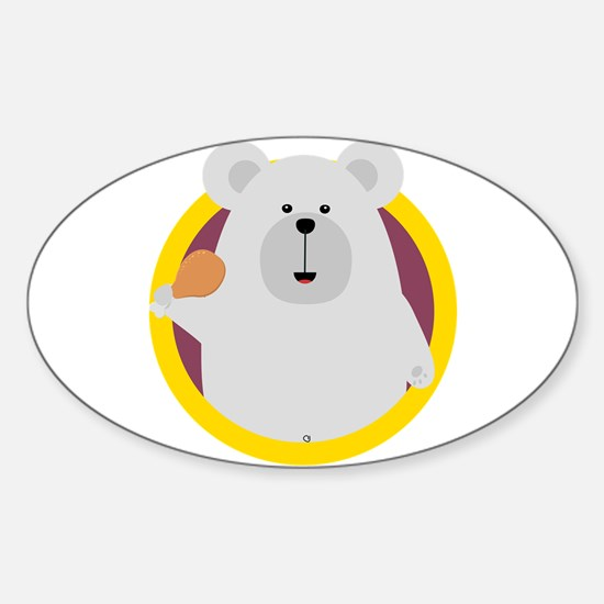 Polar Bear with Chicken leg Decal