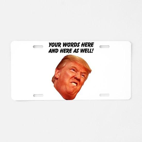CAPTION TRUMP! Customizable Aluminum License Plate