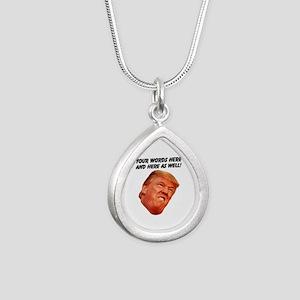 CAPTION TRUMP! Customiza Silver Teardrop Necklace
