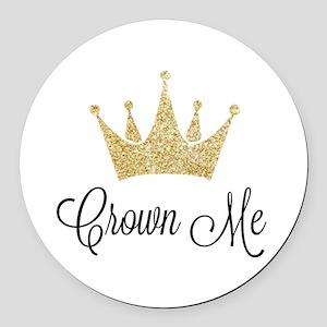 Crown Me Round Car Magnet