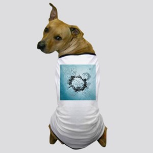 Cute dolphin with wave and flowers Dog T-Shirt
