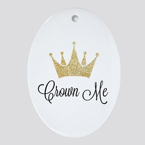 Crown Me Oval Ornament