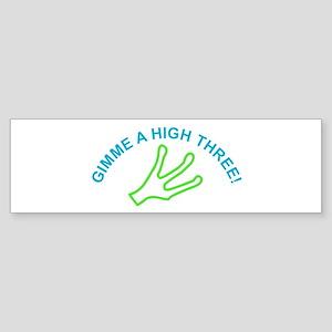 Alien - Gimme a High Three Bumper Sticker