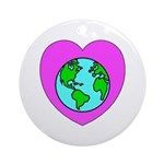 Love Our Planet Ornament (Round)