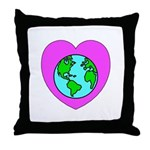 Love Our Planet Throw Pillow