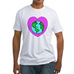 Love Our Planet Fitted T-Shirt