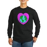 Love Our Planet Long Sleeve Dark T-Shirt
