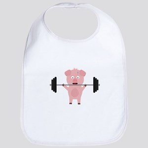 Fitness Pig with Weights Baby Bib