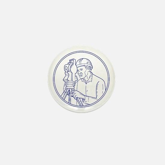 Surveyor Theodolite Circle Mono Line Mini Button