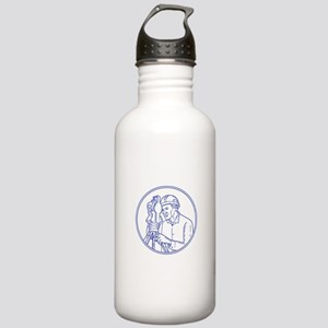 Surveyor Theodolite Circle Mono Line Water Bottle