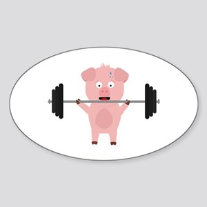 Fitness Pig with Weights Sticker