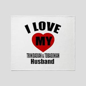 I Love My Trinidadian Husband Throw Blanket