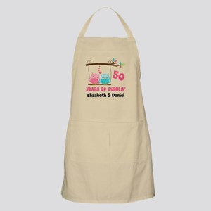 50th Anniversary 50 Years Owls Personalized Apron