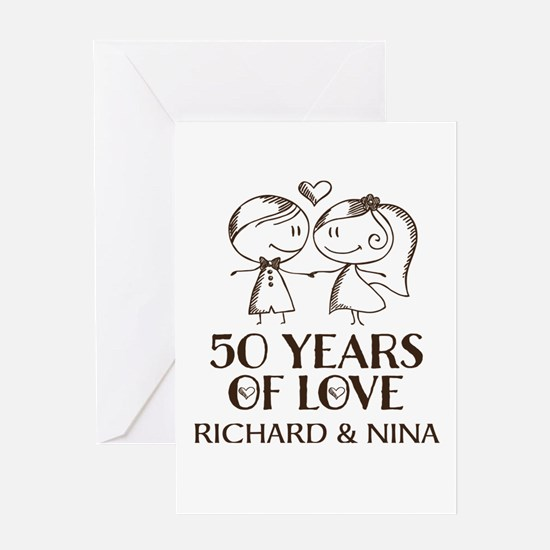 50th Wedding Anniversary Personalized Greeting Car