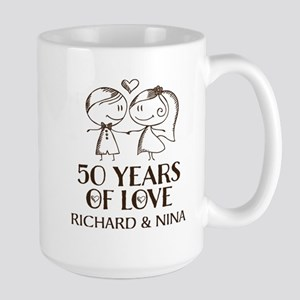 50th Wedding Anniversary Personalized Mugs