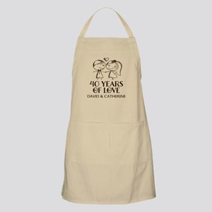 40th Wedding Anniversary Personalized Apron