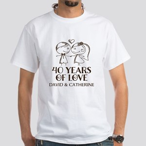 40th Wedding Anniversary Personalized T-Shirt