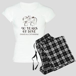 40th Wedding Anniversary Personalized Pajamas