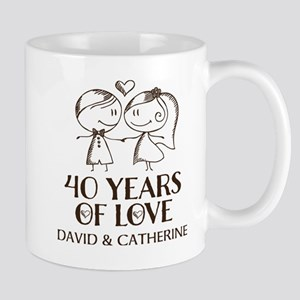 40th Wedding Anniversary Personalized Mugs