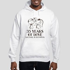 35th Wedding Anniversary Personalized Sweatshirt