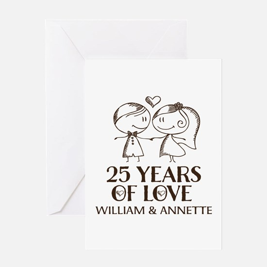 25th Wedding Anniversary Personalized Greeting Car