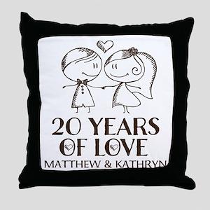 20 year work anniversary pillows cafepress