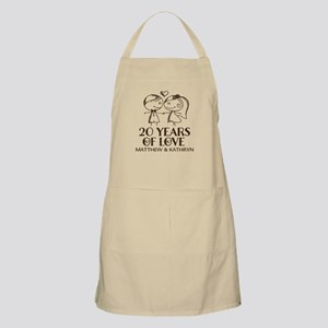 20th Wedding Anniversary Personalized Apron