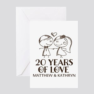 20th wedding anniversary greeting cards cafepress 20th wedding anniversary personalized greeting car m4hsunfo