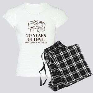 20th Wedding Anniversary Personalized Pajamas