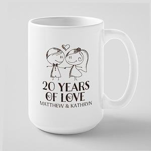 20th Wedding Anniversary Personalized Mugs