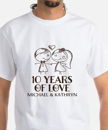 10th Wedding Anniversary Personalized T-Shirt