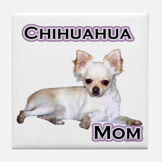 Chihuahua Mom4 Tile Coaster