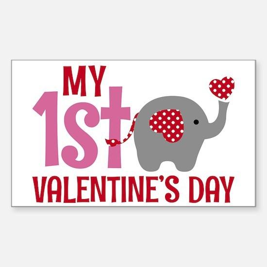 Cute 1st valentine%27s day Sticker (Rectangle)