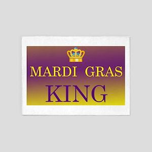 Mardi Gras King 5'x7'Area Rug