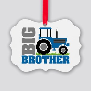 Blue Tractor Big Brother Ornament