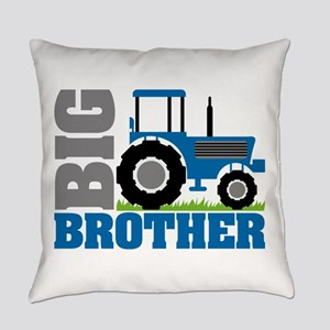 Blue Tractor Big Brother Everyday Pillow