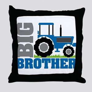 Blue Tractor Big Brother Throw Pillow