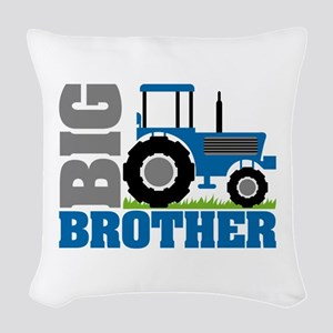 Blue Tractor Big Brother Woven Throw Pillow