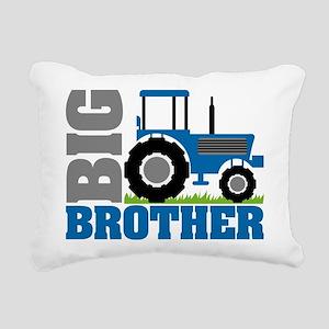 Blue Tractor Big Brother Rectangular Canvas Pillow