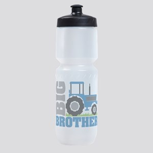 Blue Tractor Big Brother Sports Bottle