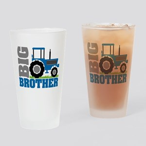 Blue Tractor Big Brother Drinking Glass