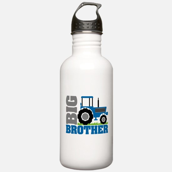 Blue Tractor Big Brother Water Bottle