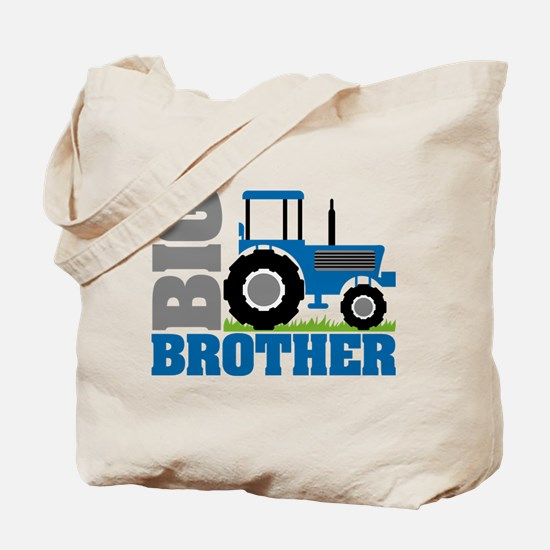 Blue Tractor Big Brother Tote Bag