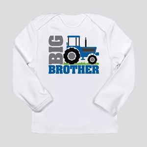Blue Tractor Big Brother Long Sleeve T-Shirt