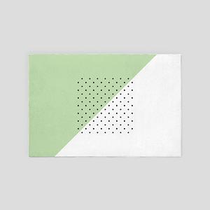 Pink Geometric Pattern 4' x 6' Rug