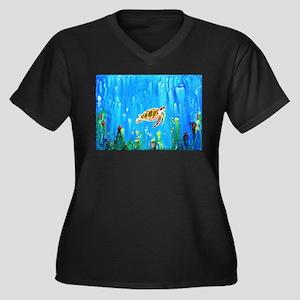 Happy Turtle Plus Size T-Shirt