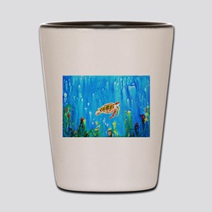 Happy Turtle Shot Glass