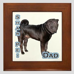 Shar Pei Dad4 Framed Tile